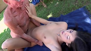 Nasty Old Man Having Intercourse His Granddaughter - HD video