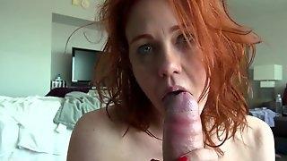 Redhead trashy whore hardcore porn clip