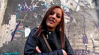 Beautiful Hungarian girl Aylin Diamond fucked in the public place