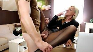 Daynia Nylon slut fucked in all holes