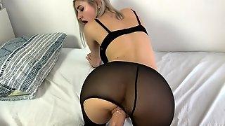 Quick fuck with the perfect schoolgirl in tights - Eva Elfie