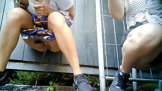 Women urinating Outside 9