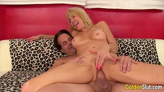Cock hungry blonde old women enjoy taking hard dicks in pussy and getting fucked good