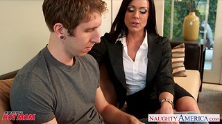 Loose friend's matriarch Kendra Lust gives her head before unreasoned sex
