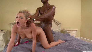 Blonde chick Kylee Reese enjoys getting fucked overwrought a black man