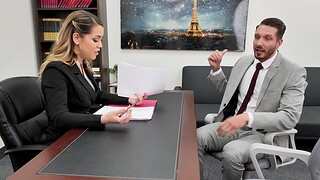 Trimmed pussy boss Alina Lopez wants to be fucked hard in the office