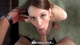 Tall girl over 30 Sophia Wilde shows talents of her pussy and mouth