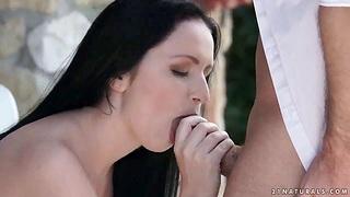 Hungarian babe Kittina Ivory takes hard bushwa in tight anal hole