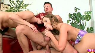 Destructive bisexual orgy with unfavourable Debbie White and say no to friends