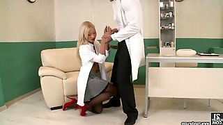 Sexy hot ass Kiara Lord in nurse uniform fucks the horny doctor